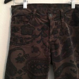 Citizen of Humanity Brown Floral Skinny Pants 26